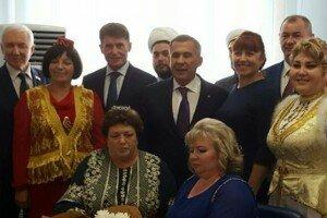 С активом татар Сахалина
